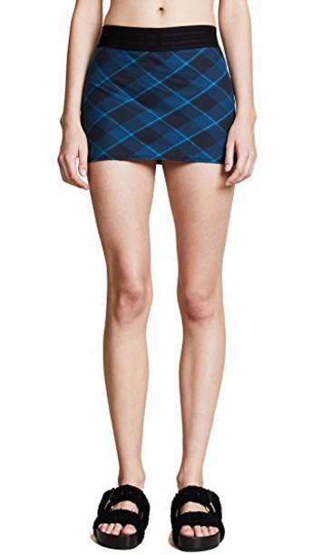 Baja East miniskirt plaid skirt