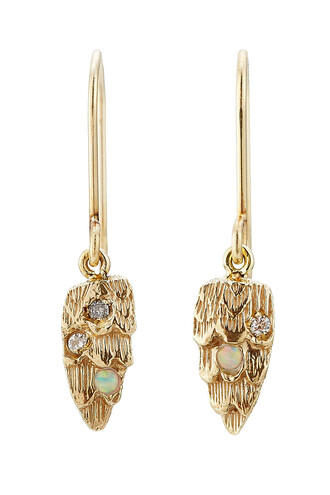 opal earrings gold earrings gold jewels