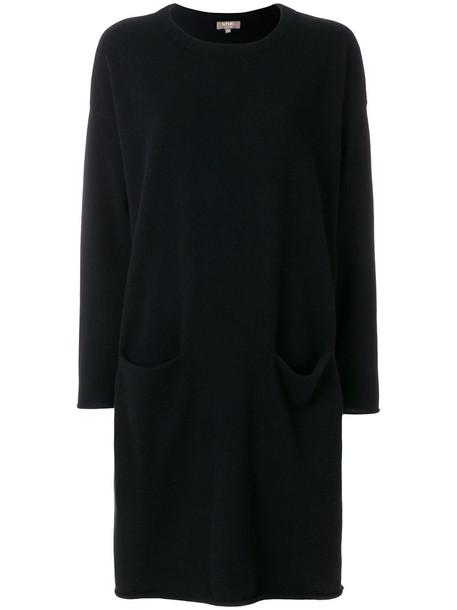 dress sweater dress women black