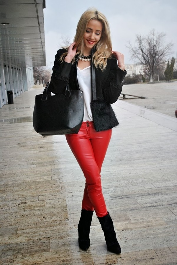 let's talk about fashion ! coat pants blouse bag shoes