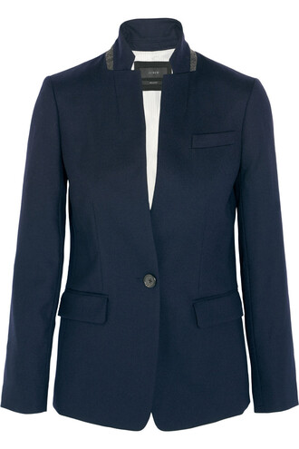 blazer wool navy jacket