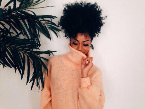 sweater brown cute top coral oversized sweater black girls killin it