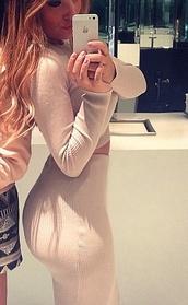 dress,beige,bodycon dress,two piece dress set