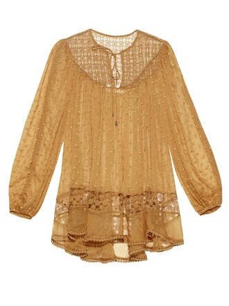 top lace silk yellow