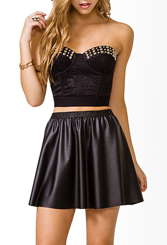 Studded Lace Corset | FOREVER21 - 2031557185