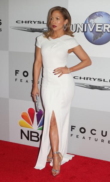 ee110ed540e shoes sandals Silver sandals high heel sandals dress maxi dress white dress  jennifer lopez celebrity celebrity
