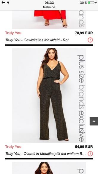 jumpsuit black glitter curvy