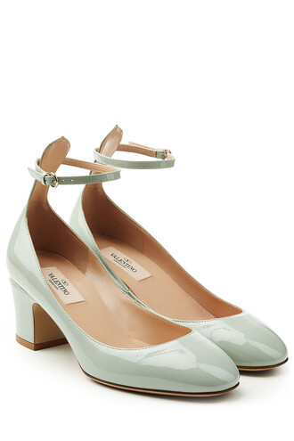 tan pumps leather green shoes