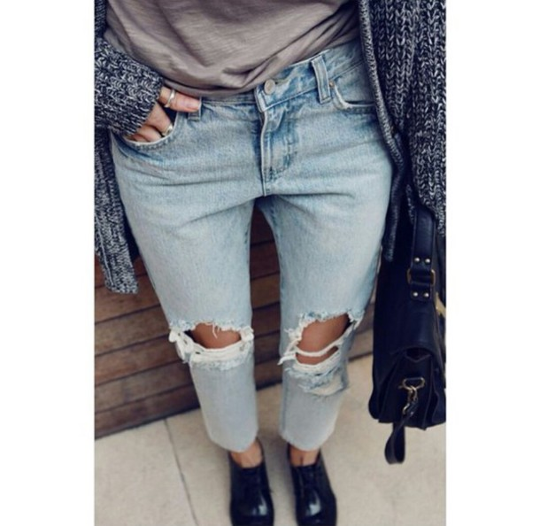 ripped jeans outfit tumblr sch ne jeansmodelle. Black Bedroom Furniture Sets. Home Design Ideas