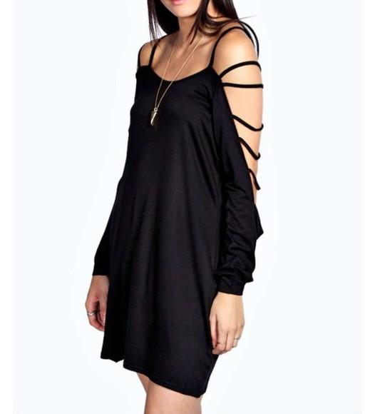 dress girly fashion lovely pepa black summer dress
