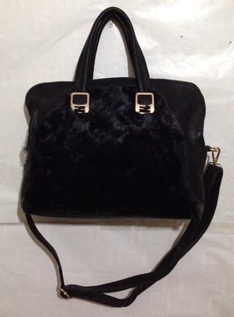 bag ladies faux fur handbag