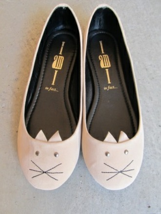 cats ballet flats shoes girly