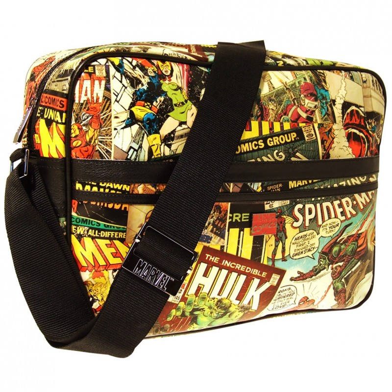 Marvel retro comic print Messenger Bag - Uptomen