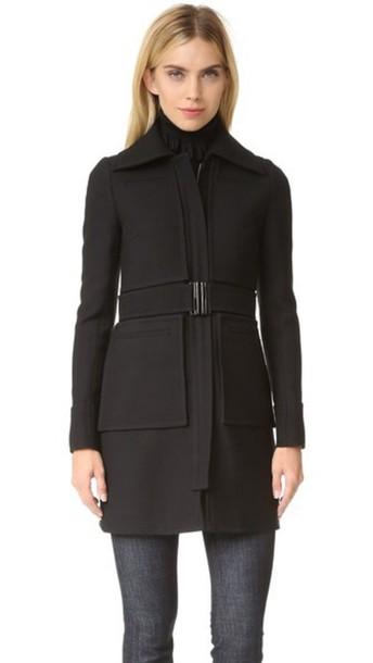 Victoria Victoria Beckham 4 Pocket Fitted Coat - Black