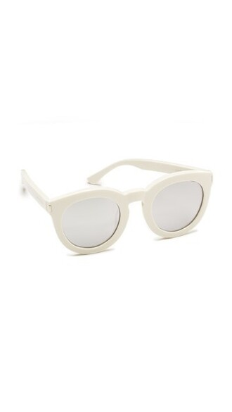 surf sunglasses silver white