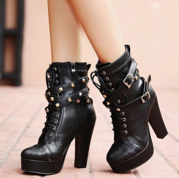 Cheap Black Booties Shoes