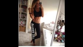 pants leggins sport workout workout gym leggins black