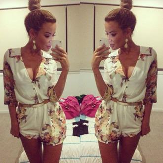 blouse white combinaison combinaison short