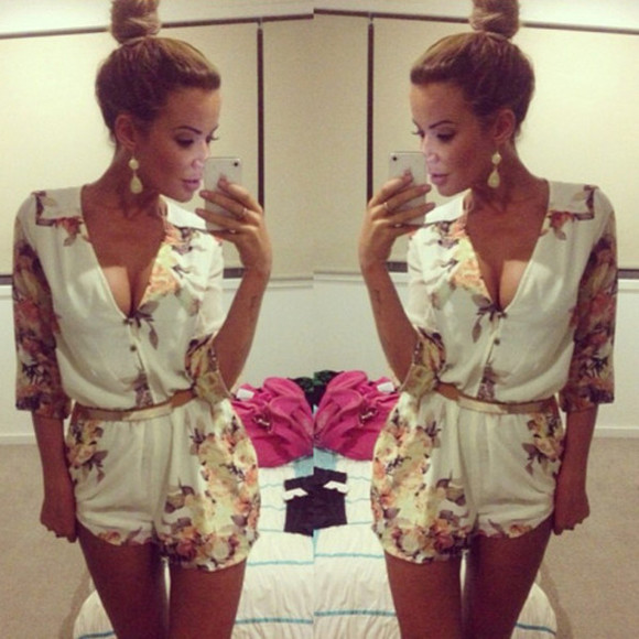 combinaison blouse white combinaison short