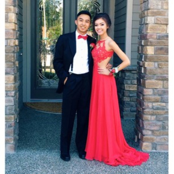 prom dress, dress, red dress, lace dress, prom, long prom dress ...