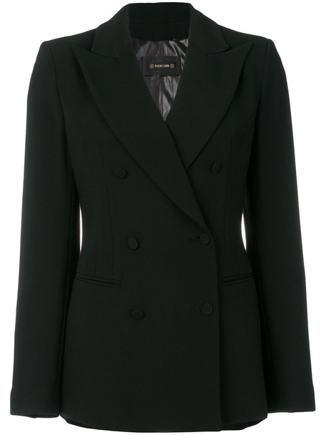 Plein Sud blazer double breasted women spandex black wool jacket