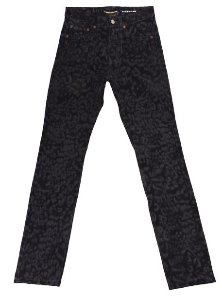 Saint Laurent Leopard Print Skinny Jeans