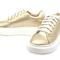 Metallic gold leather sneakers