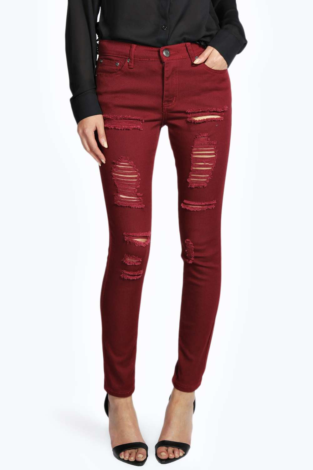 Evie low rise super skinny ripped jeans