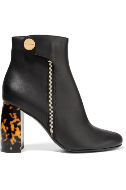 Stella McCartney leather ankle boots ankle boots leather black shoes