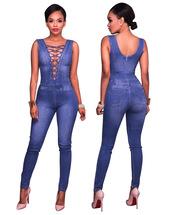 jumpsuit,denim,lace,back zipper