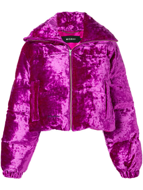 Misbhv jacket puffer jacket women purple pink