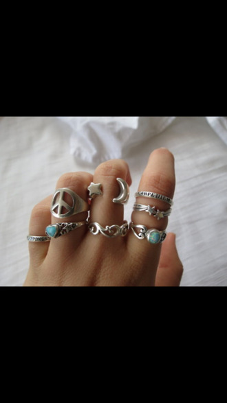 jewels silver ring hipster cute rings summer outfits