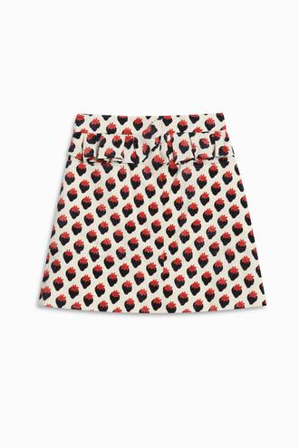 skirt jacquard strawberry
