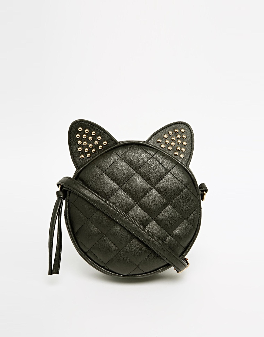 ASOS Studded Cat Ears Cross Body Bag at asos.com