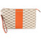Michael michael kors - logo print clutch - women - cotton/leather - one size, nude/neutrals, cotton/leather