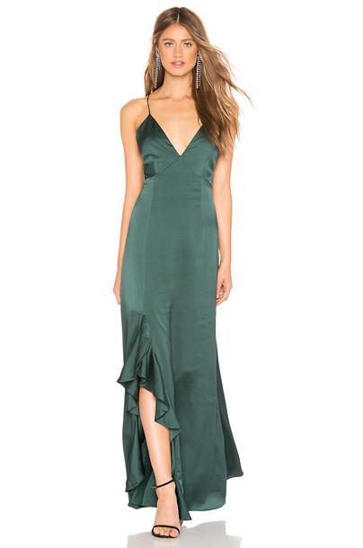 keepsake Infinity Gown In Forest Green