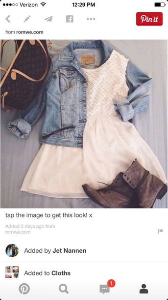 dress white dress jean jackets