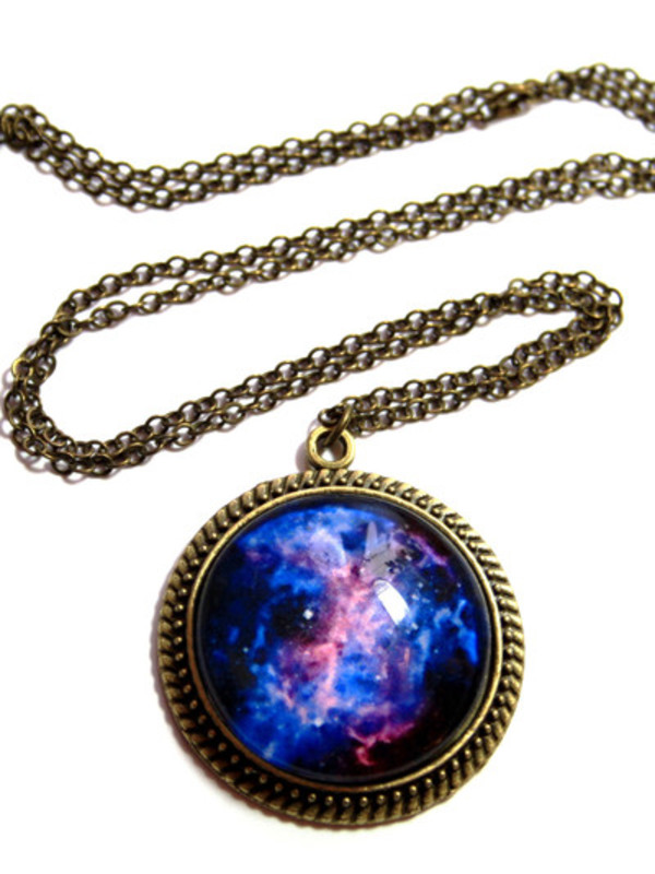 jewels clothes galaxy print necklace accessories