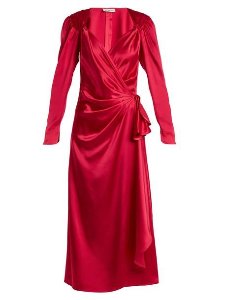 Attico dress satin dress satin pink
