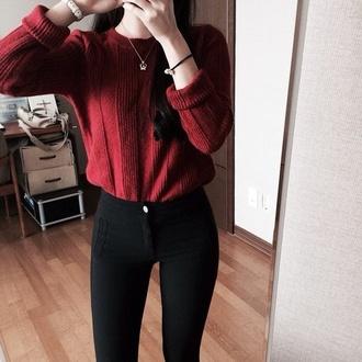 sweater burgundy burgundy sweater