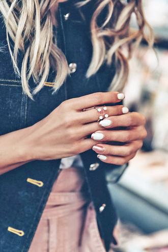 jewels tumblr jewelry ring knuckle ring nail polish nail art nails