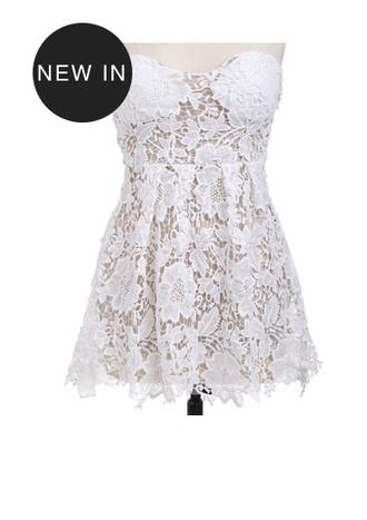 dress white dress black and white dress mini dress lace dress white lace dress