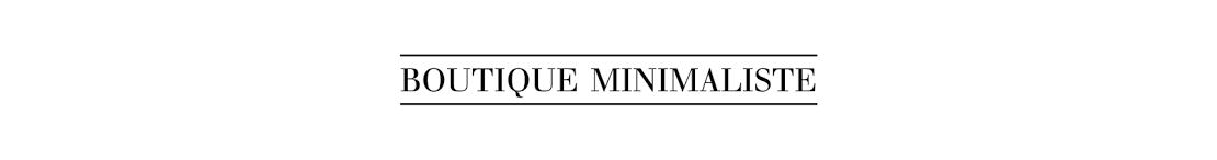 Boutique minimaliste