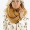 Chunky mustard infinity scarf