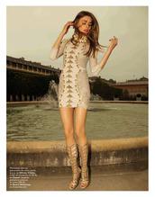 dress,gold,metallic,bodycon dress,shoes