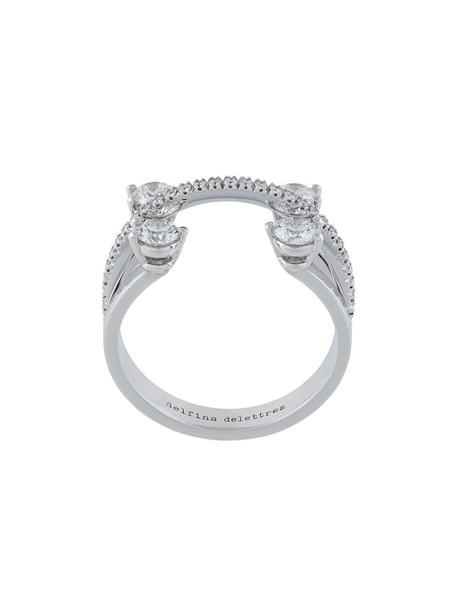 women ring gold grey metallic jewels