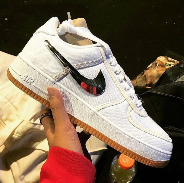 shoes air force 1 travis scott sneakers white nike nike shoes travis scott