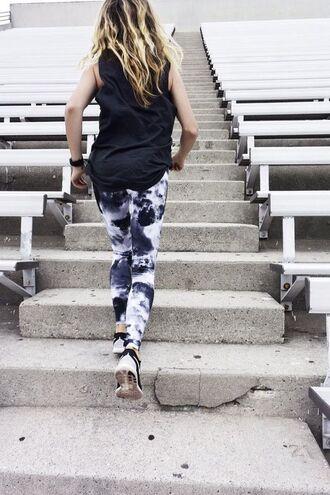 leggings workout leggings printed leggings tie dye workout
