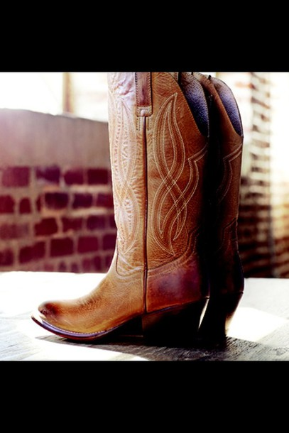 shoes boots leather brown leather boots leather boots cowgirl boots cowboy boots