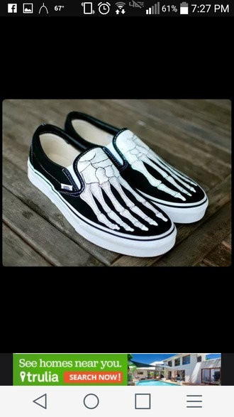 shoes black flats skeleton sneakers black sneakers bones